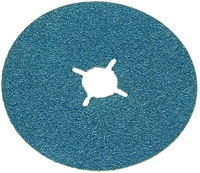 Zirconium fibre backed sanding disc.
