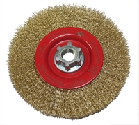 Wire brush wheel for angle grinders.
