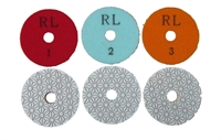 Diamond Polishing Pads - 3 Stage.